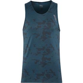 2XU GHST Camiseta sin mangas running Hombre, linear camo laquariuse/black